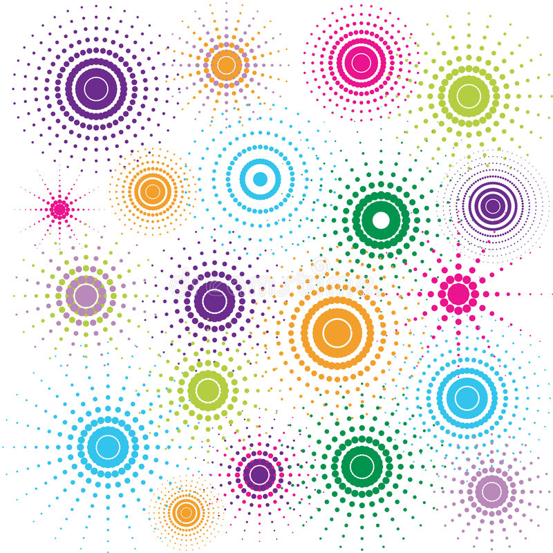 circles multicolored retro απεικόνιση αποθεμάτων