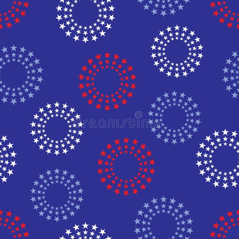 Free Circles Of Stars Background Il Stock Photography - 5122002