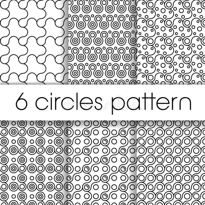 Circles patter. Illustration vector drawing vector illustration