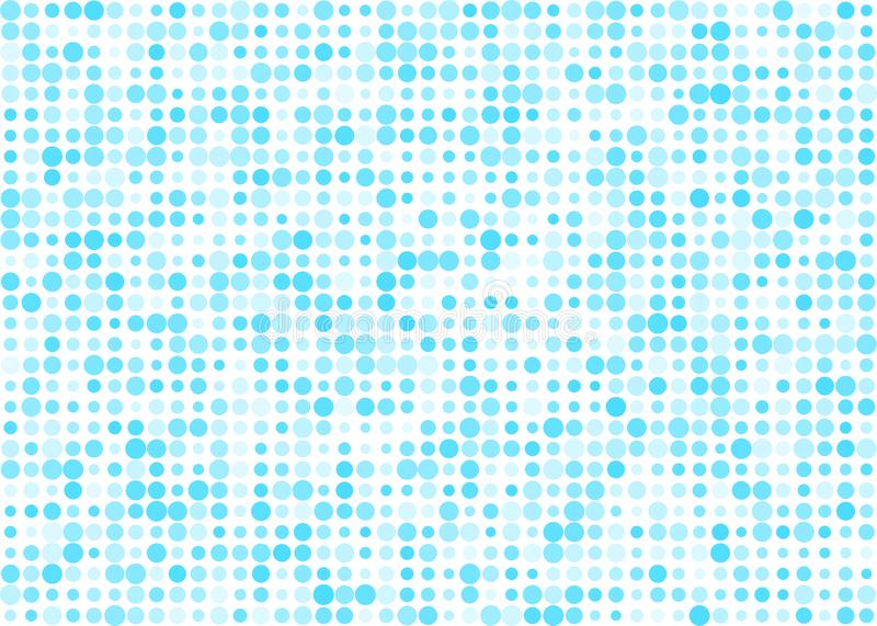 Abstract Shiny Blue Halftone Dots Pattern in White Background royalty free illustration