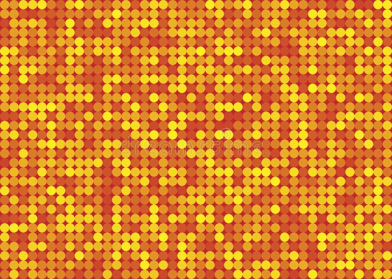 Abstract Seamless Shiny Yellow, Orange and Red Dots Pattern Background royalty free stock images