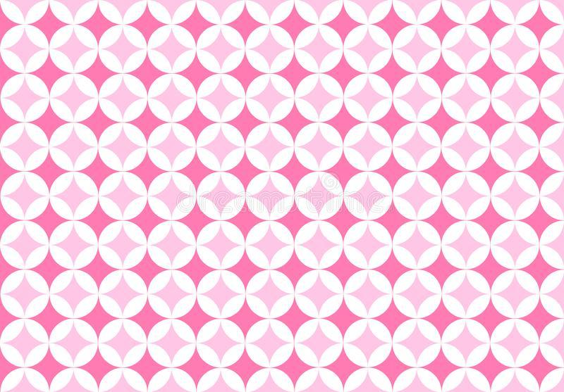 Seamless Circles Pattern in Pink Background royalty free stock images