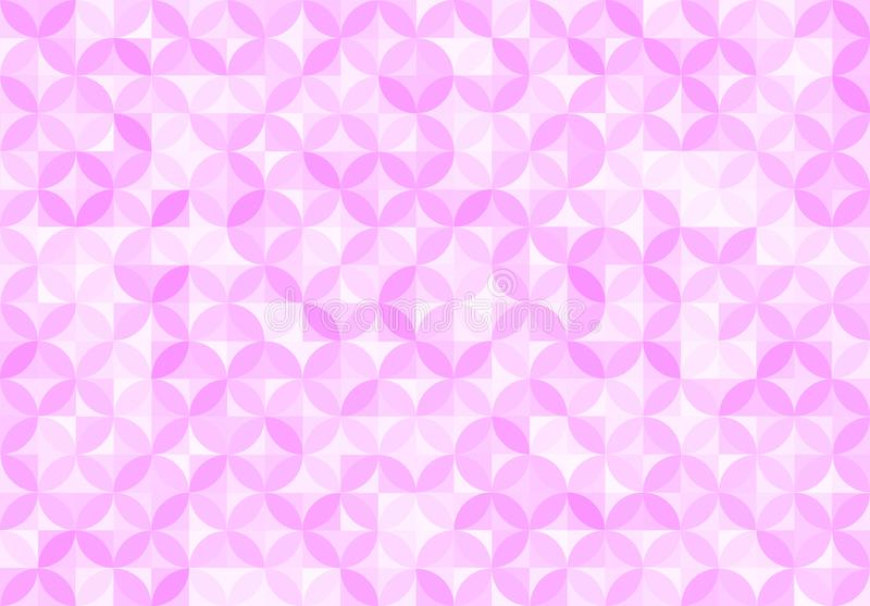 Abstract Seamless Pink Circles and Squares Pattern Background vector illustration