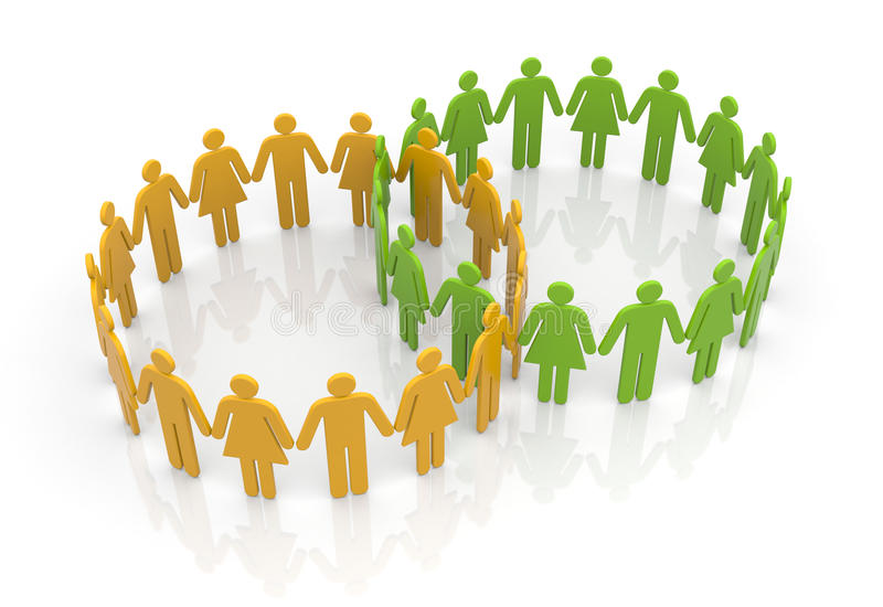 Download Circles of people stock illustration. Illustration of abstract - 26294828
