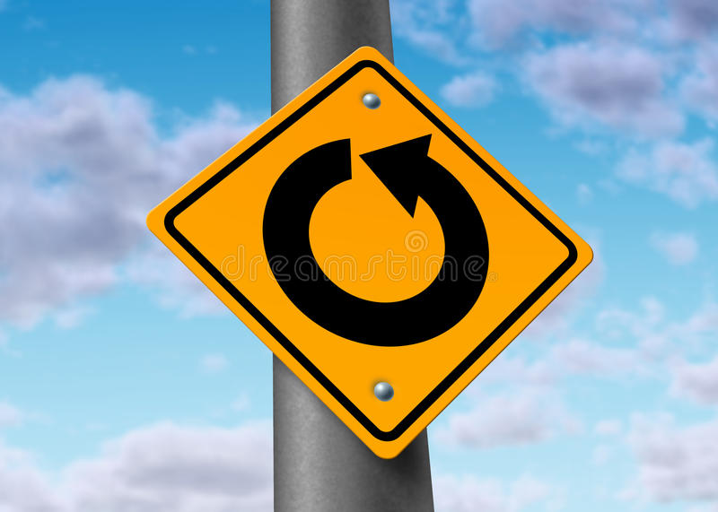 In circles return confused decision time direction royalty free illustration