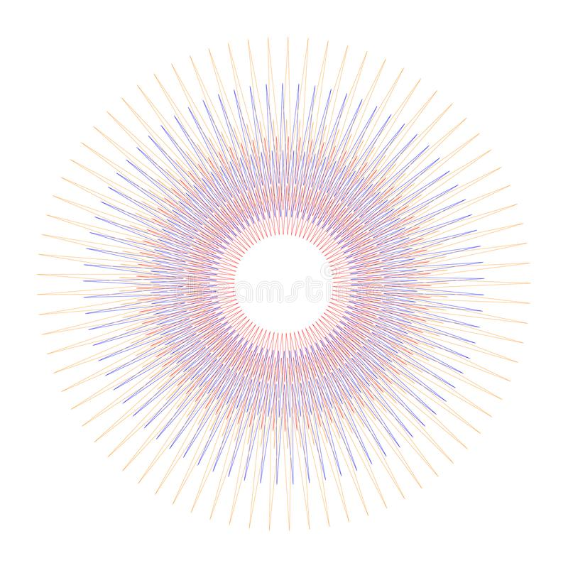 Circles round random concentric Colorful on white background. with Vector illustration vector illustration