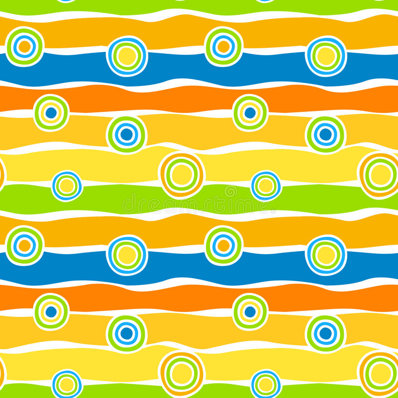 Circles and stripes seamless background royalty free stock images