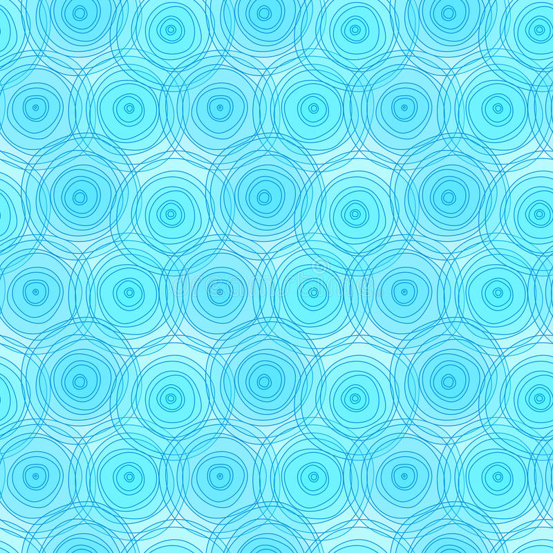 Circles water ripples seamless background royalty free illustration