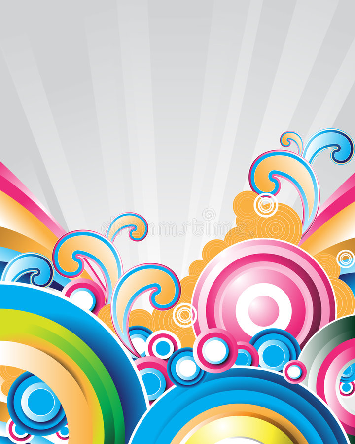 circlesrays ελεύθερη απεικόνιση δικαιώματος
