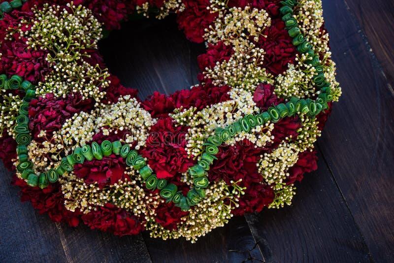 circlet цветков гвоздики стоковые изображения rf