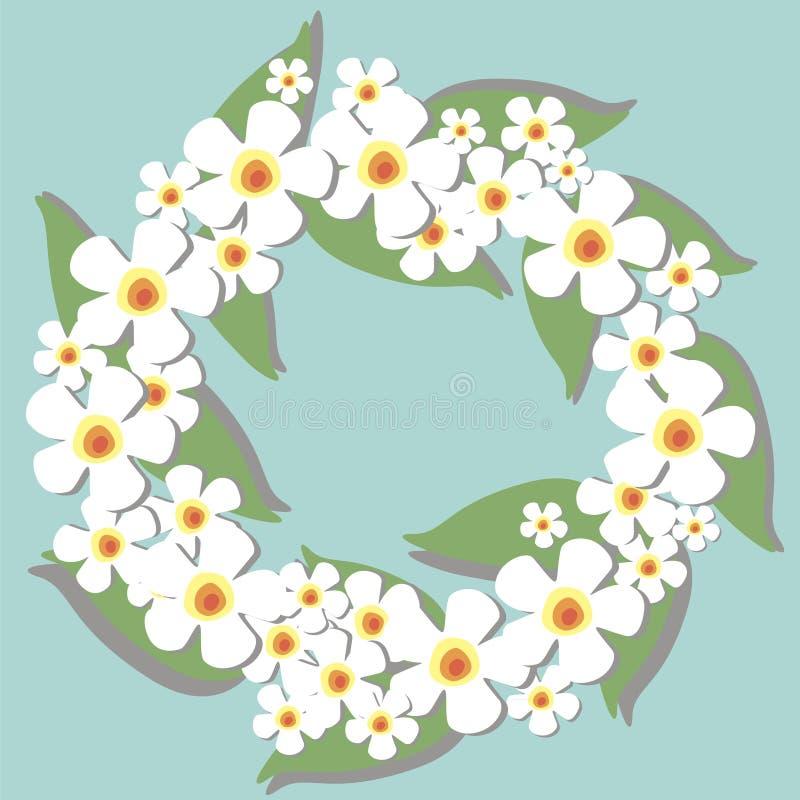 Circlet della priorità bassa dei fiori royalty illustrazione gratis