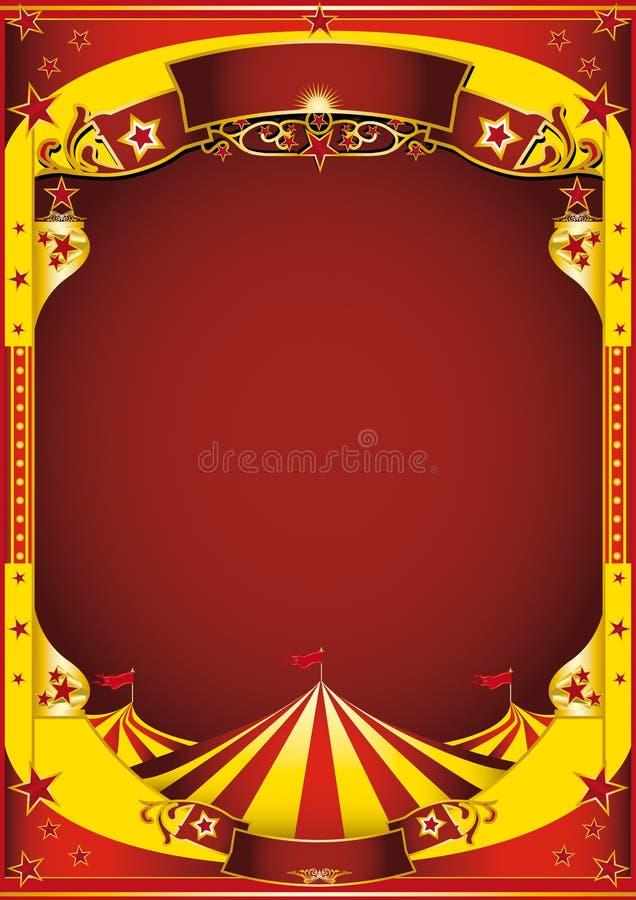 Circo amarillo con la tapa grande stock de ilustración