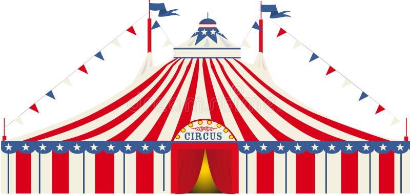 Circo americano del top grande stock de ilustración