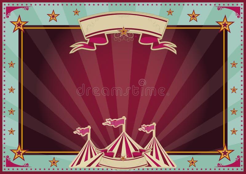 Circo azul y púrpura horizontal de los rayos de sol libre illustration