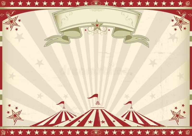 Circo d'annata orizzontale illustrazione vettoriale