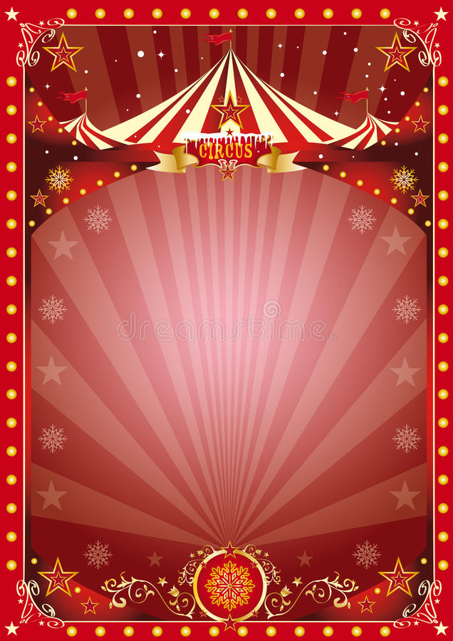 Circo de la Navidad del cartel libre illustration
