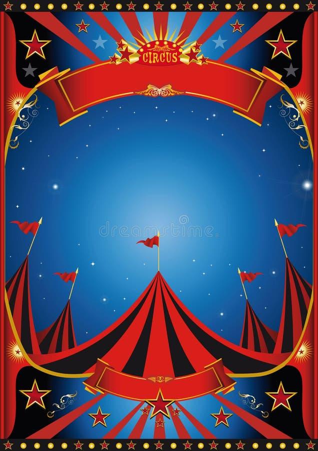 Circo de la noche del cielo ilustración del vector