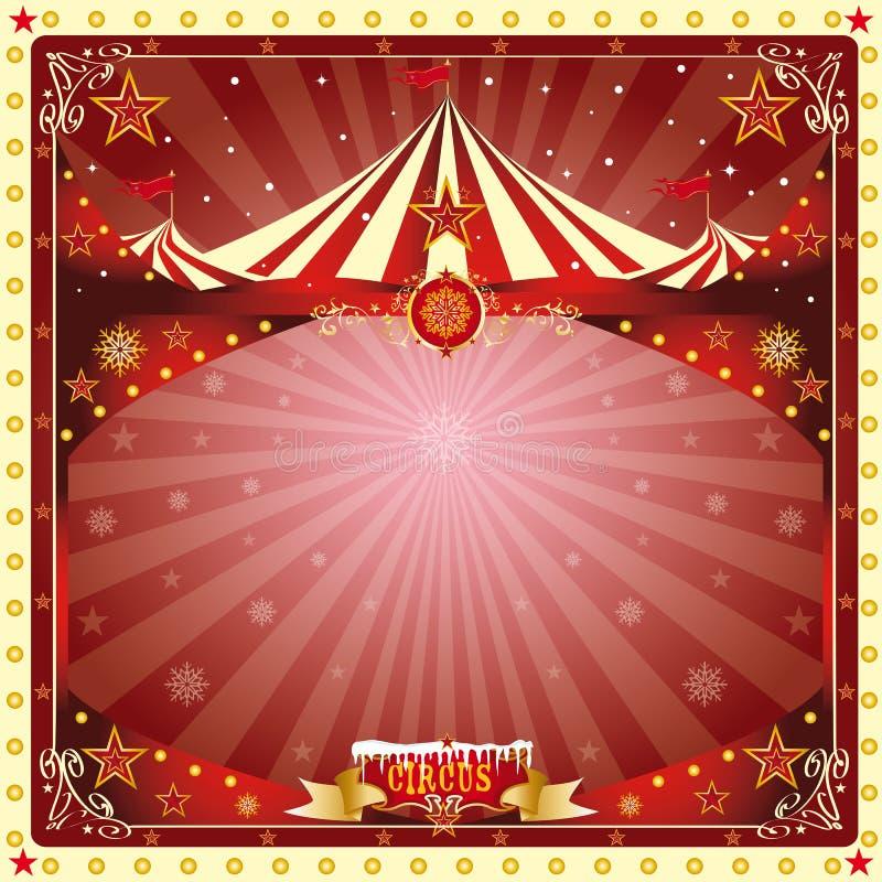 Circo de la tarjeta de Navidad stock de ilustración