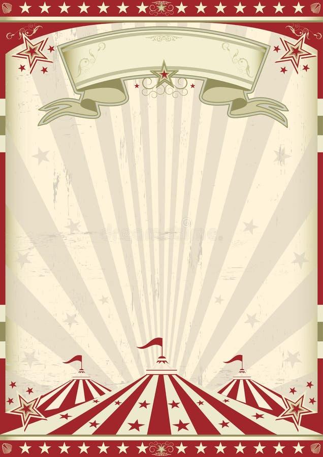 Circo de la vendimia ilustración del vector