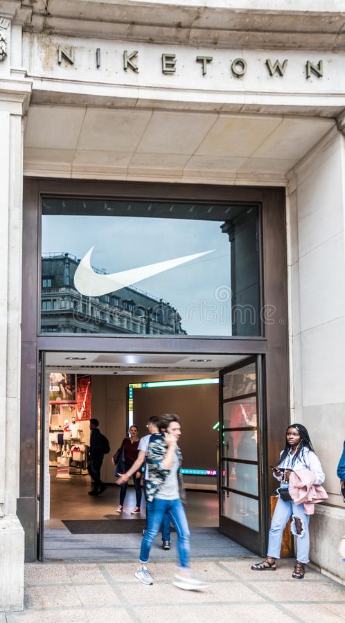 Circo de oxford da cidade de Nike imagem de stock