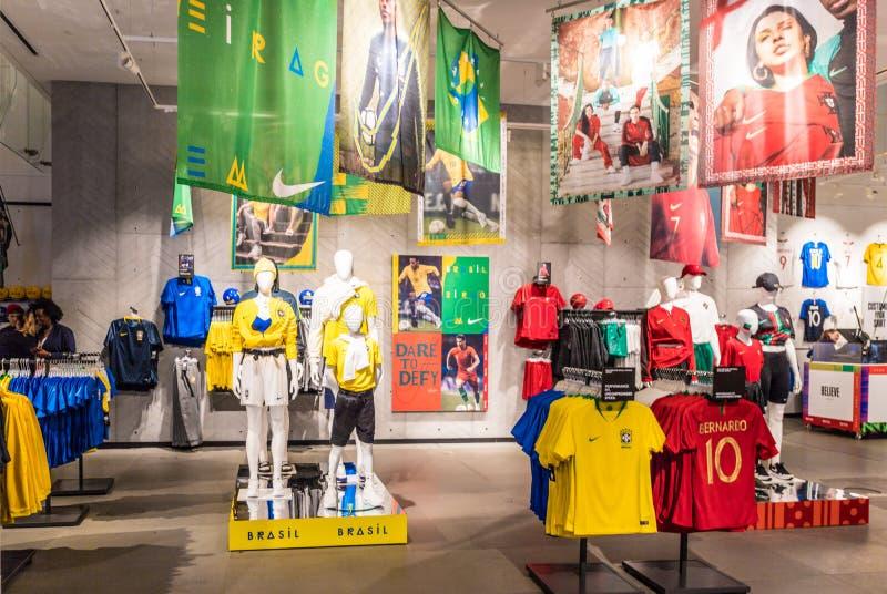 Circo de oxford da cidade de Nike imagens de stock