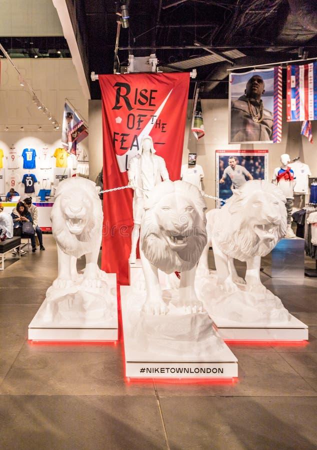 Circo de oxford da cidade de Nike foto de stock