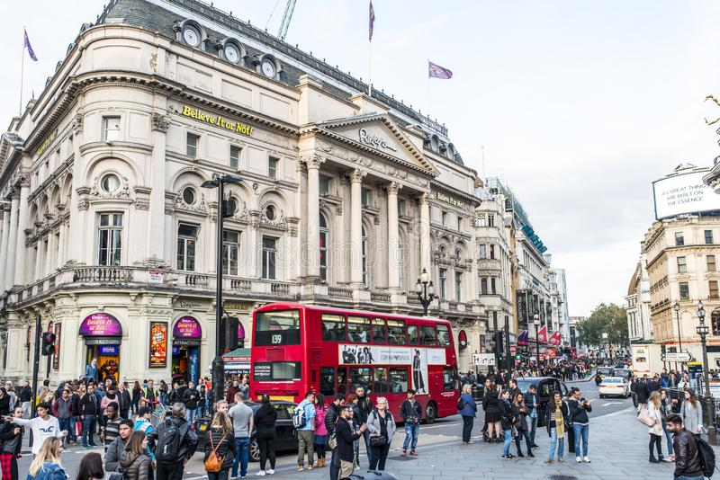 Circo de Piccadilly imagem de stock royalty free