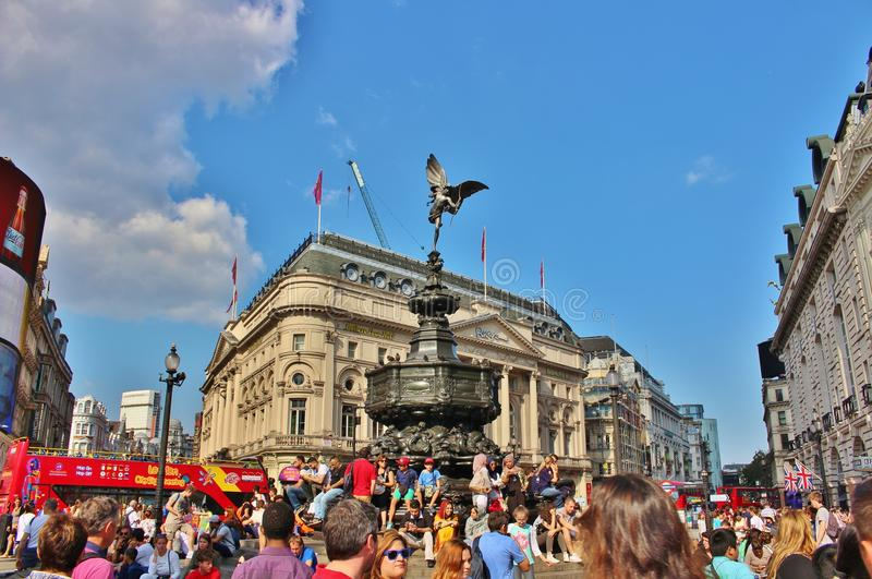 Circo de Piccadilly, Londres foto de stock