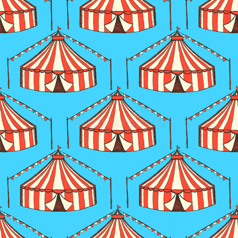 Circo del bosquejo en estilo del vintage libre illustration