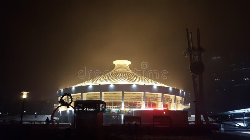 Circo del estado del Kazakh almaty ilustración del vector