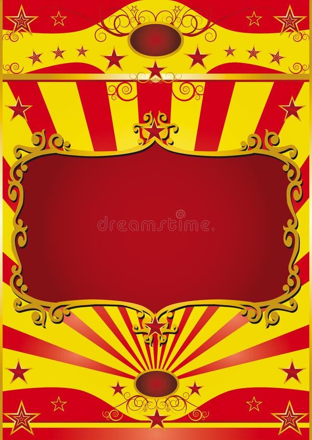 Circo del marco del cartel stock de ilustración