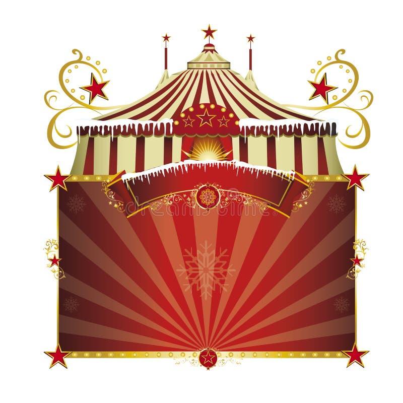 Circo di Natale illustrazione vettoriale