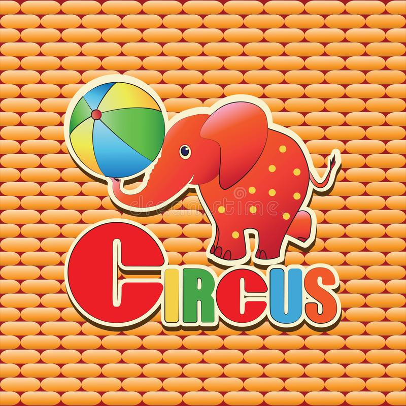 Download Circo Elefante Bola ilustración del vector. Ilustración de cuidado - 100534600