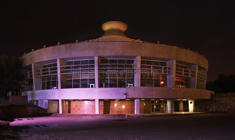 Circo em Almaty noite kazakhstan fotografia de stock