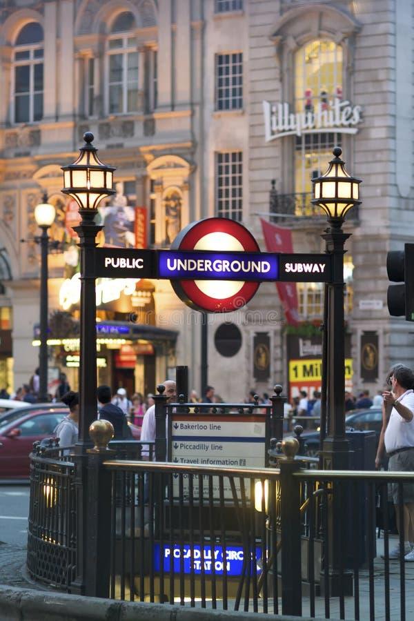 Circo Londres de Piccadilly fotografia de stock
