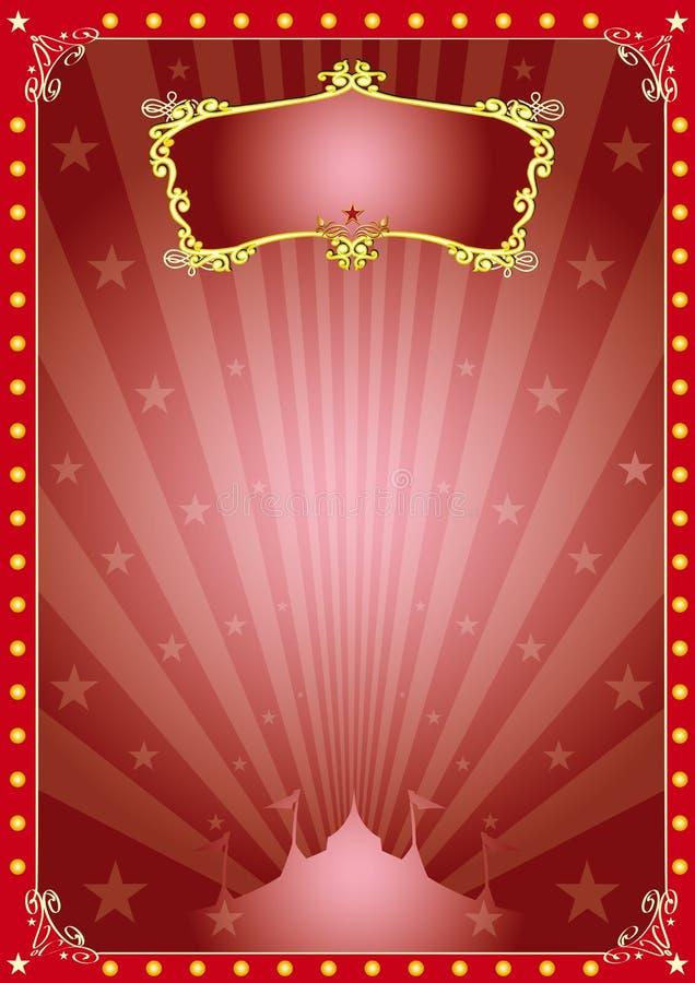Circo mágico de la estrella ilustración del vector