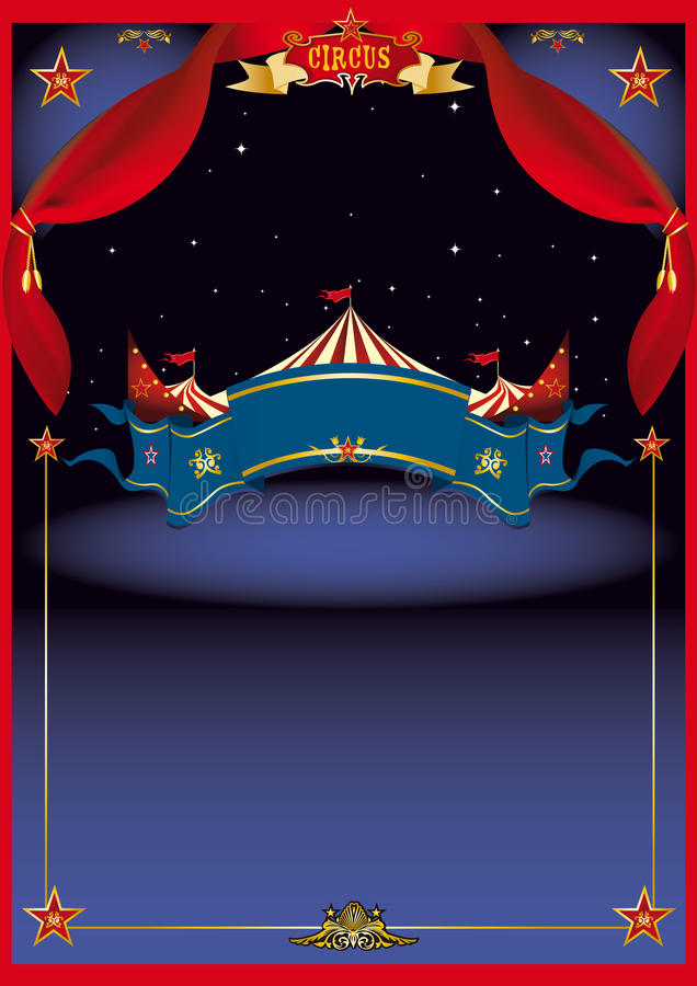 Circo mágico em a noite ilustração stock
