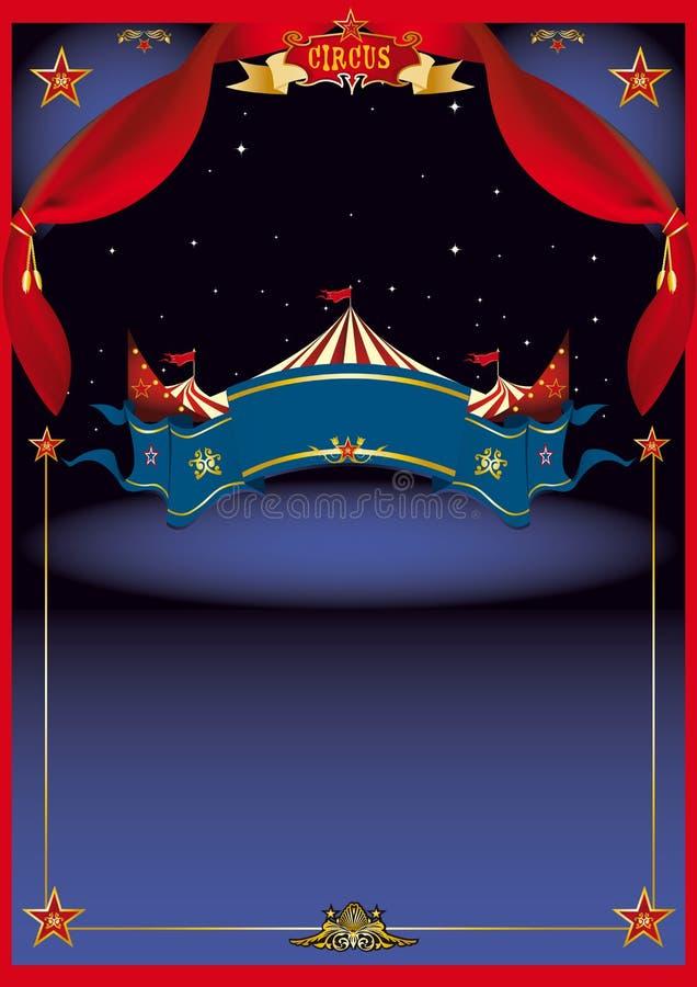 Circo magico entro la notte illustrazione di stock