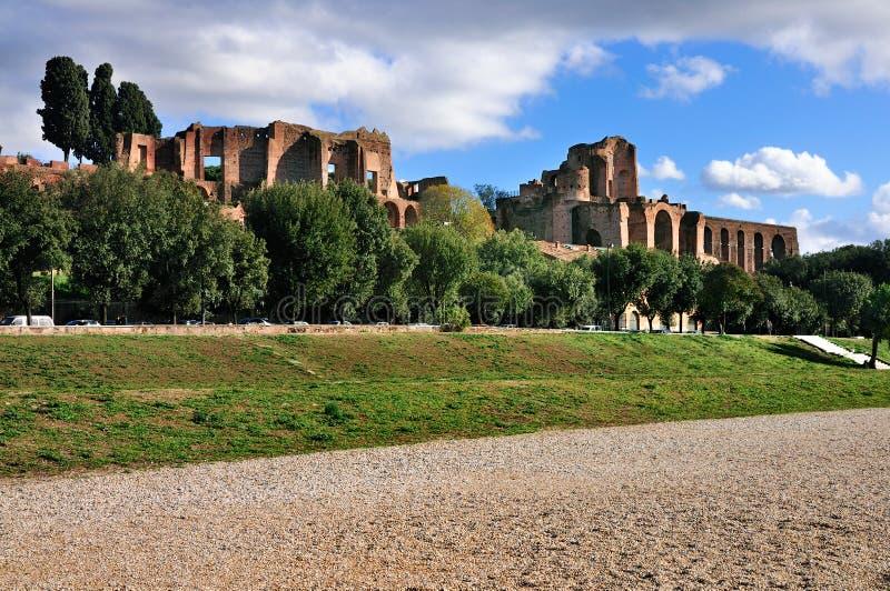 Circo Maximus y el Palatine foto de archivo libre de regalías