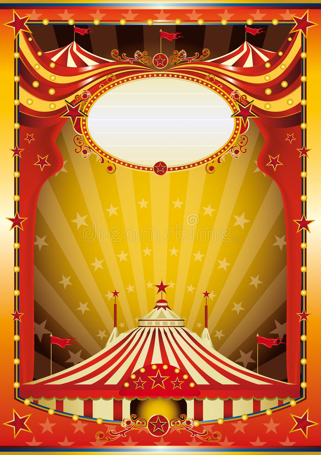 Circo multicolor del fondo ilustración del vector