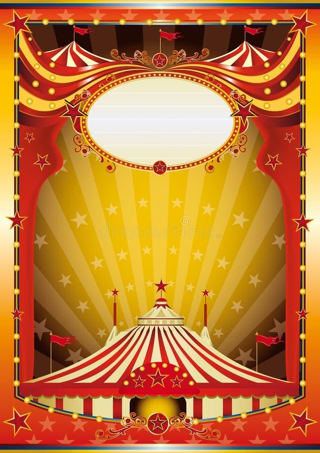Circo multicolore della priorità bassa illustrazione vettoriale