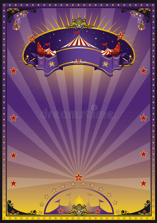 Circo púrpura stock de ilustración