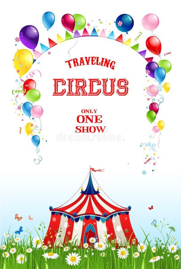 Circo que viaja del verano stock de ilustración