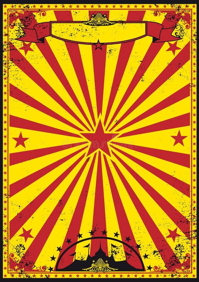 Circo retro rojo y amarillo ilustración del vector