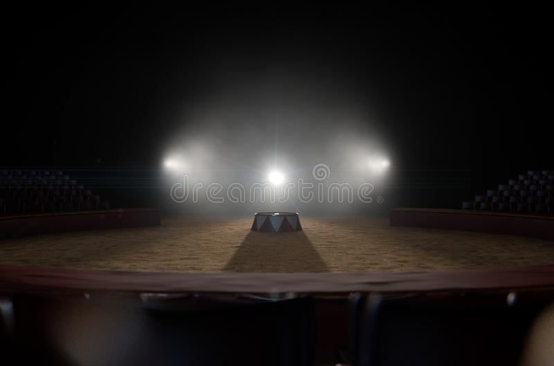 Circo Ring And Podium imagem de stock royalty free