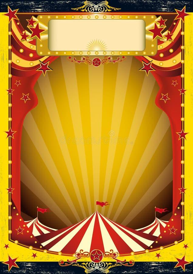 Circo rojo y amarillo libre illustration