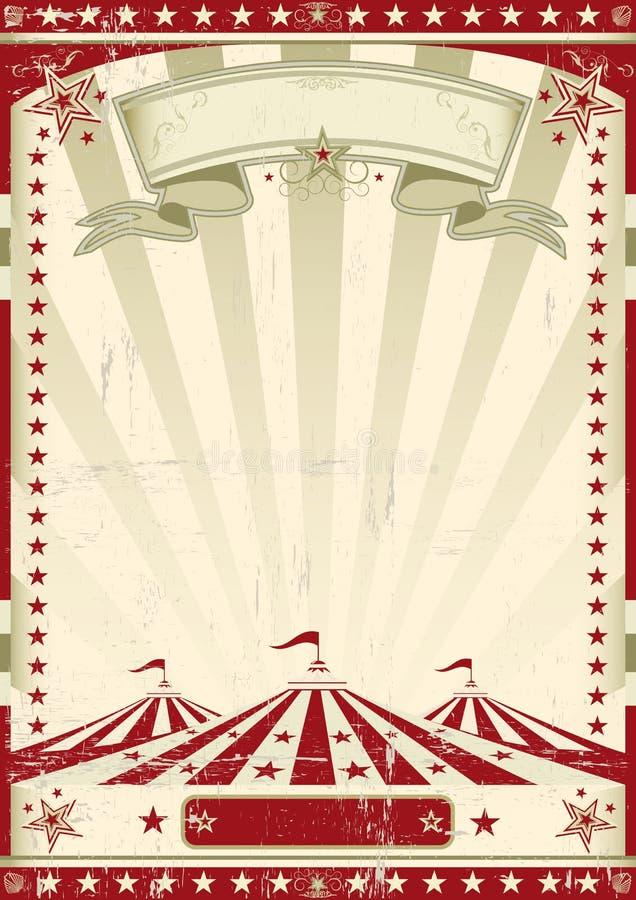 Circo rosso retro. illustrazione di stock