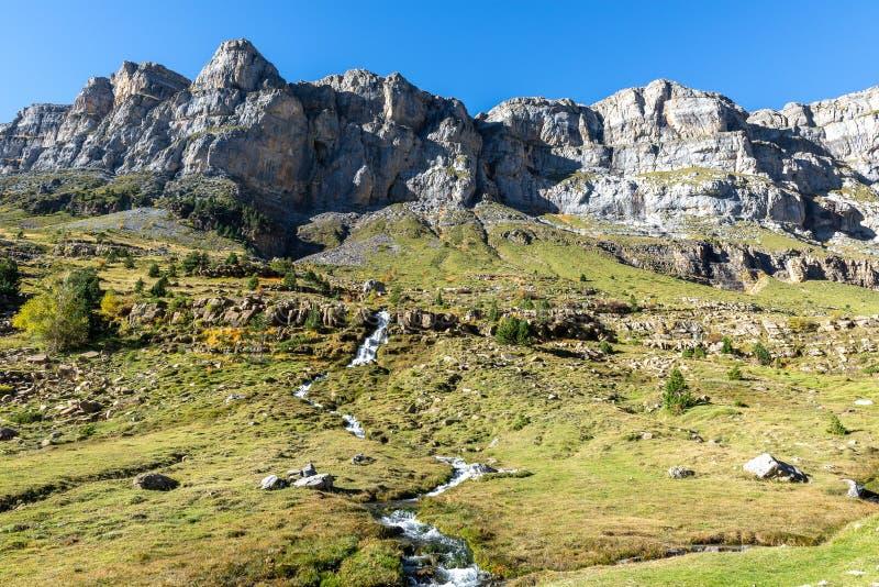 Circo Soaso, национального парка Ordesa, Уэски, Испании стоковые фото