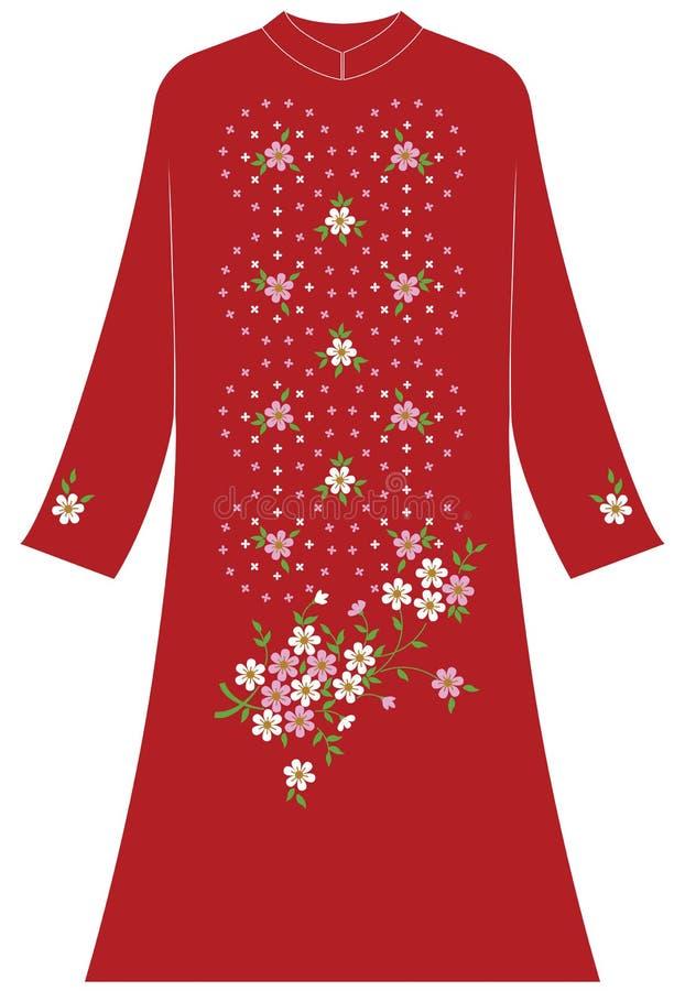 Circolare dell'abbigliamento del ` s delle donne grande e piccola del gelsomino illustrazione di stock