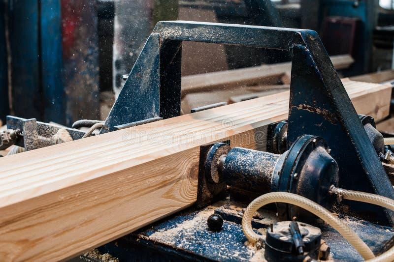 Circolare ha veduto Carpentiere Using Circular Saw per legno immagini stock libere da diritti